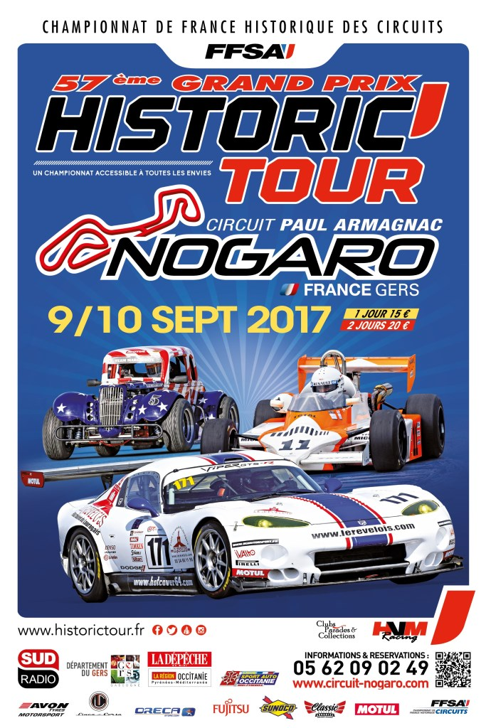Affiche Historic Tour Nogaro 2017