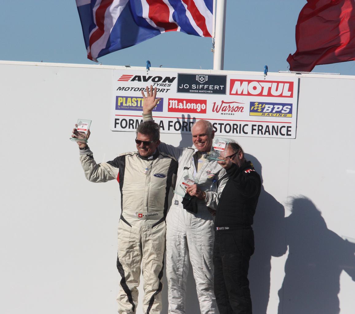 Podium Trophée Jo Siffert Watches : P.A. Lombardi (2nd) - A. Crocker (1er) - Didier Mantz (3ème)